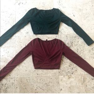 15$ for 2 Two Emma & Sam LF long sleeve XS crop